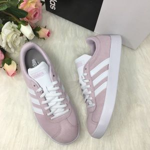 🍀💕Adidas VL Court 2 pink suede wmns sneaker 🍀💕